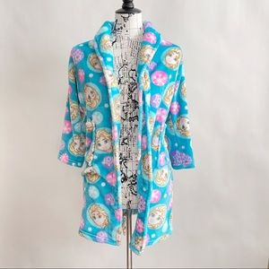 Frozen Elsa Girl's Fleece Bathrobe Robe Size M(8)